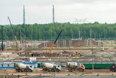 Construction of petrochemical plant. Tobolsk Stock Photos