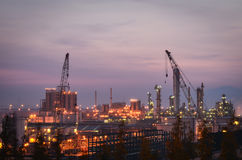 Construction petrochemical plants Stock Photos