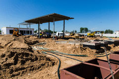 The construction of the petrol stations Royalty Free Stock Photos