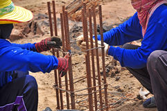 Construction Piling Stock Photo