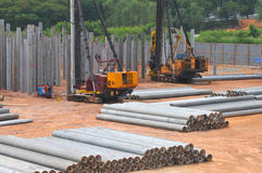 Construction Piling Series 4 Stock Photo