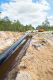 Construction of the pipeline Stock Photos