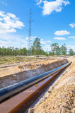 Construction of the pipeline Royalty Free Stock Photo