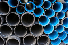 Construction pipes Stock Image