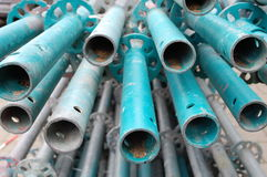 Construction pipes at a site. Pipes with colors on a construction site Stock Photography
