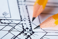 Construction plan Royalty Free Stock Image