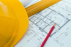 Construction plan Stock Photos