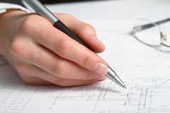 Construction Plan Royalty Free Stock Images