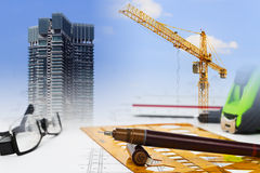 Construction plan Stock Image