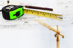 Construction plan Stock Images