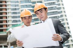 Construction plan Stock Photography