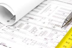 Construction plan Stock Photography