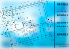 Construction Plan. Architectural background Stock Images