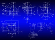 Construction plan of metal designs Stock Image