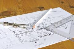Construction plan Stock Photo