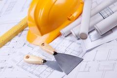Construction Plans Stock Images
