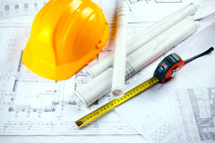 Construction Plans Royalty Free Stock Photography