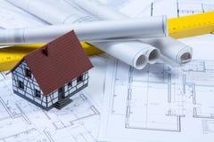 Construction Plans!. Construction plans of interior. Studio Shot stock photos