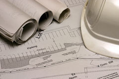 Construction Plans 2 Royalty Free Stock Photos