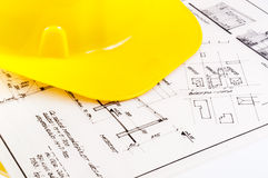 Construction plans Stock Images