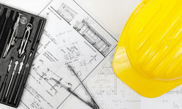 Construction plans Royalty Free Stock Photos