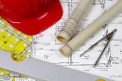 Construction plans Royalty Free Stock Image