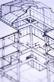 Construction plans. Wood construction plans in close up Royalty Free Stock Images
