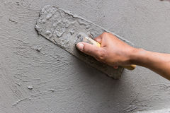Construction Plaster work. Work construction Plaster Tool in site Stock Photos