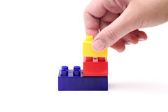 Construction plastic blocks Stock Photos