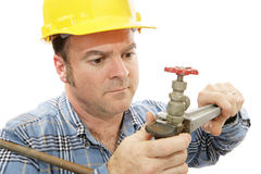 Construction Plumber Closeup royalty free stock images