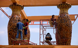 Construction in popular Buddhist temple Wat Phrathat Doi Suthep ( วัดพระธาตุดอยสุเทพ ) Stock Photography