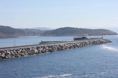 Construction port in Ferrol, Spain. Stock Photo