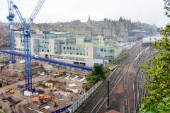 Construction pour une ville d'élevage à Edimbourg, Ecosse Photographie stock libre de droits