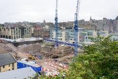 Construction pour une ville d'élevage à Edimbourg, Ecosse Photographie stock
