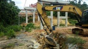Construction près de source d'eau photographie stock libre de droits