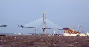Construction process of Cadiz Second Bay Bridge. Spain Stock Photography