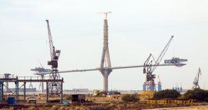 Construction process of La Pepa Bridge Royalty Free Stock Photography