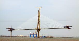Construction process of La Pepa Bridge Royalty Free Stock Photos