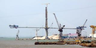 Construction process of La Pepa Bridge Stock Photos