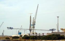 Construction process of La Pepa Bridge Stock Images