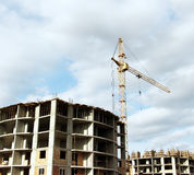 Construction process. Modern architecture, Photo of Construction process Royalty Free Stock Image