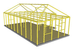 Construction Process tools and materials building Stock Photos