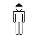 Construction professional avatar silhouette Stock Photos