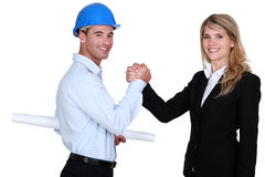 Construction professionals Stock Images