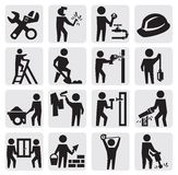 Construction professions Stock Image