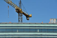 Construction progressing of office building in Vilnius Royalty Free Stock Images