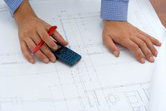 Construction project Royalty Free Stock Photography