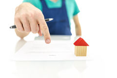 Construction project contract Royalty Free Stock Photo