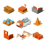 Construction Project Info Graphic,Detailed Stock Image