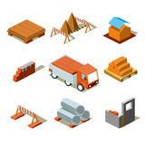 Construction Project Info Graphic,Detailed Royalty Free Stock Photography
